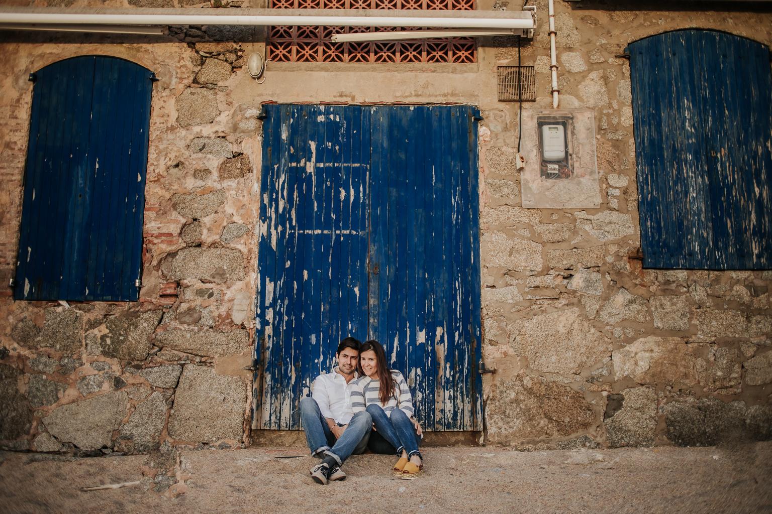 Fotógrafo pareja Girona :: Sesión de pareja Calella de palafrugell :: Sesión romántica :: Preboda en Girona :: Salida del sol